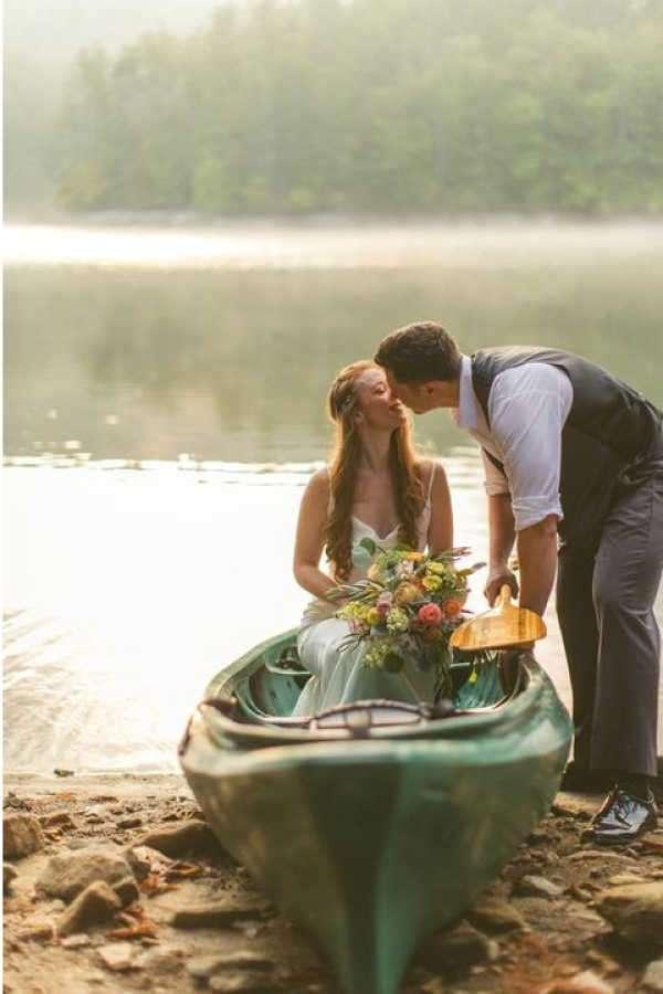 boda con canoas