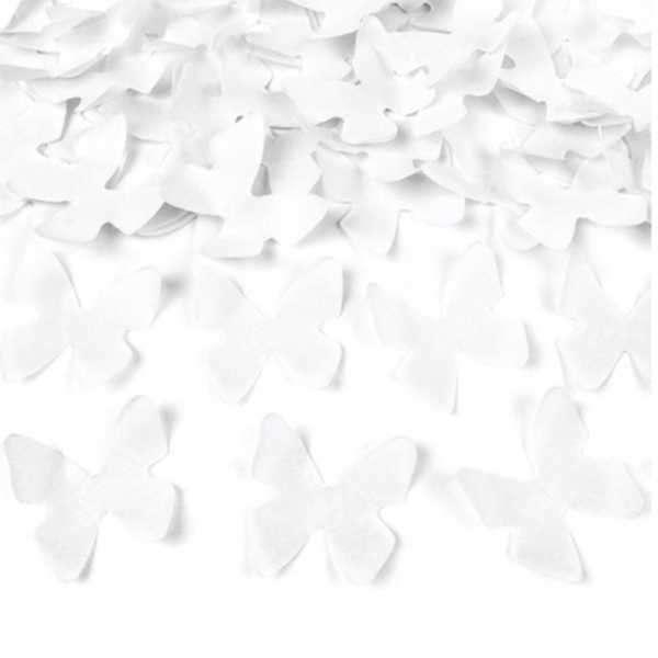 cañon confeti mariposas blancas