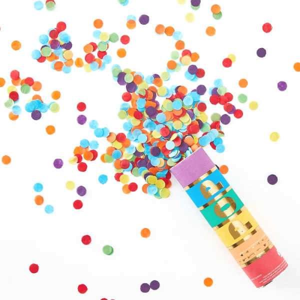 mini cañon confeti colores