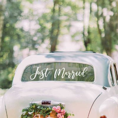 Coche novios just married