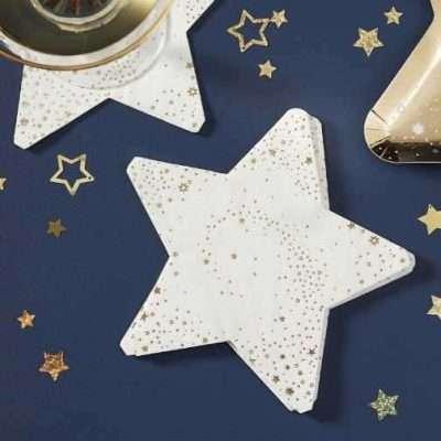 servilletas estrellas doradas