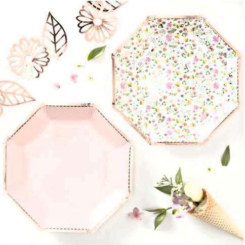 platos flores