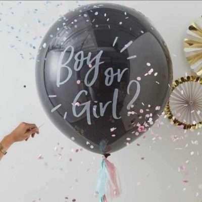 Revelar sexo del bebe- Globo confeti
