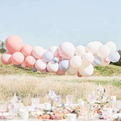 kit arco globos pastel boho