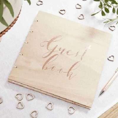 Libro firmas de madera