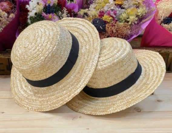sombrero canotier boda