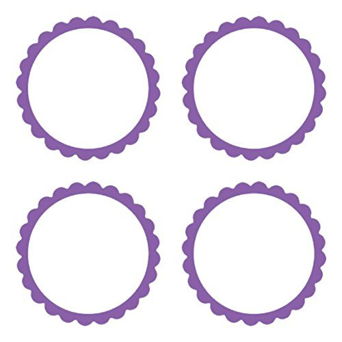 Amscan-Candy-Buffet-Scalloped-Labels-Purple-B00DT56TEE