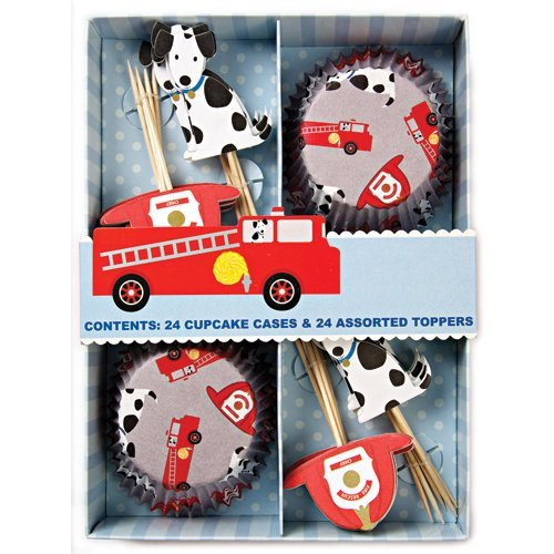 Meri-Meri-Kit-de-24-CupCake-cases-perros-bomberos-24-Assorted-Toppers-B003N99MCC