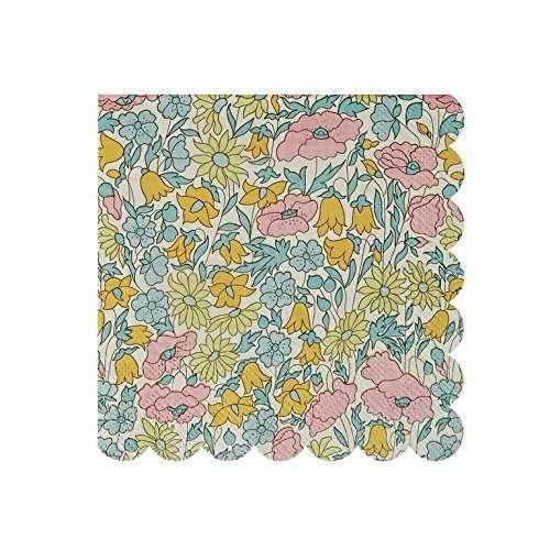 Meri-Meri-libertad-de-amapolas-y-margaritas-flores-patrn-pequeas-servilletas-20-unidades-B01FXV7DNM