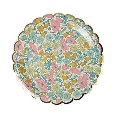 Platos pastel con flores liberty