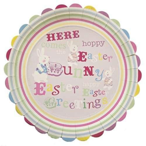 Platos-papel-grandes-Easter-Bunny-Conejo-de-Pascua-B004EBDVPC