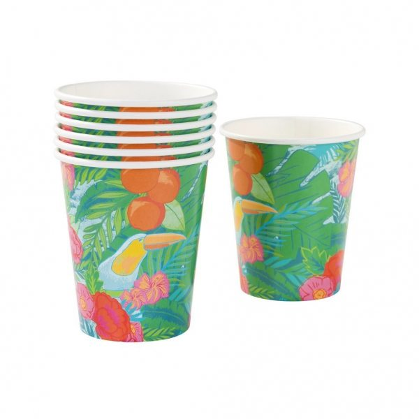 Talking-Tables-Tropical-Fiesta-vasos-de-papel-12-unidades-B00SWLFUEU
