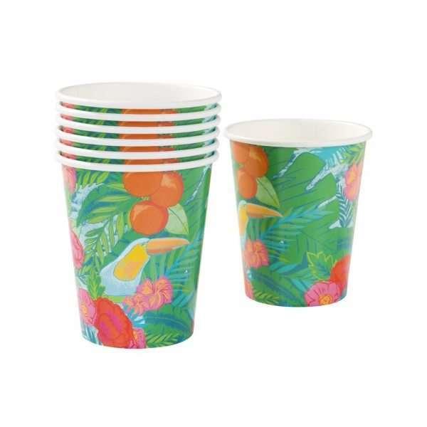 Talking-Tables-Tropical-Fiesta-vasos-de-papel-12-unidades-B00SWLFUEU