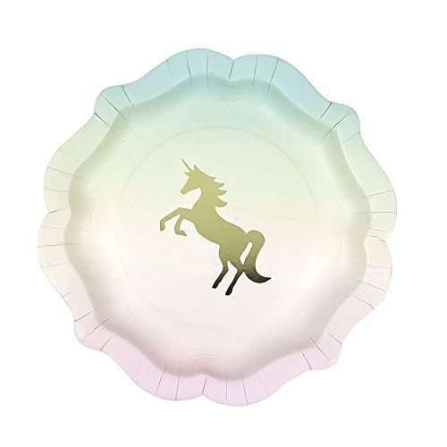 Platos Hoja de Oro Unicornio
